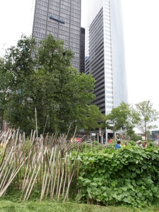 City garden in Downtown Manhatten, near Battery Park