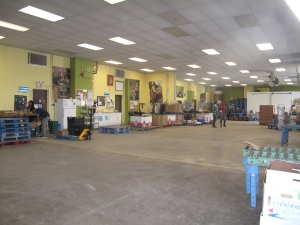 Food Share warehouse where all the sorting and deliveries happen.