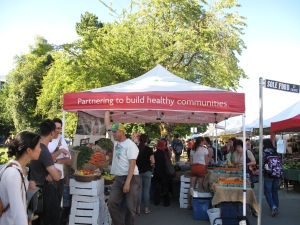 Sole Food's stall at Vancouver's farmer's markets outside Central Pacific station.
