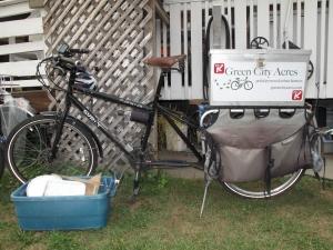 Kelowna urban farm vehicle - great for carrying tools!