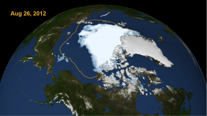 Nasa: Arctic Ice melt 2012