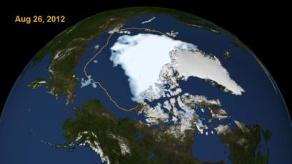 Nasa: Arctic Ice melt 2012