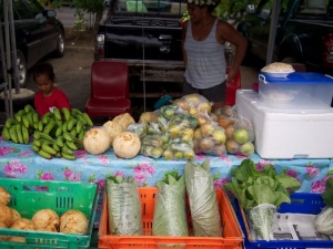 Despite fruit and vege sales much of the food sold is takeaways